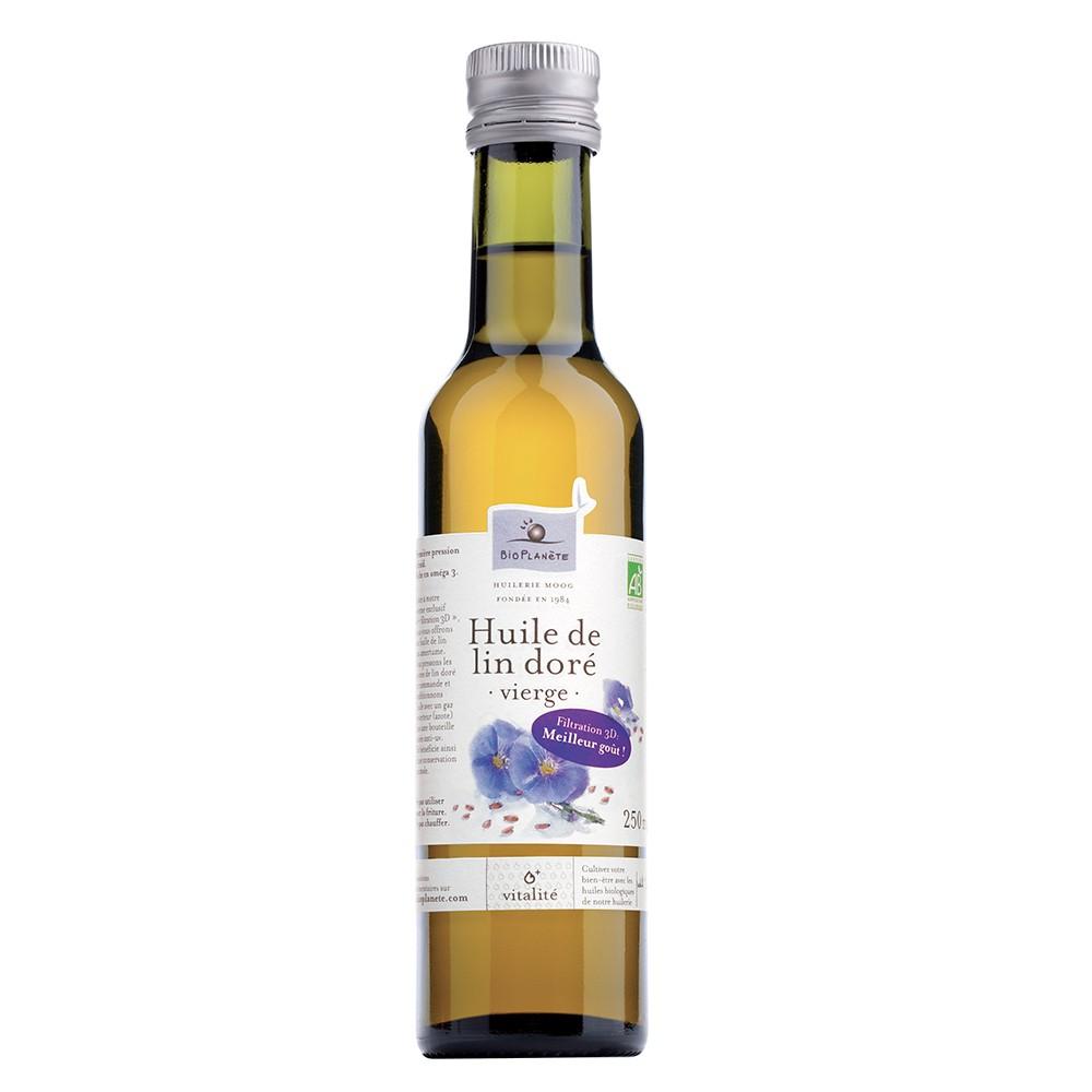 [法國有機行星食用油坊] 有機初榨亞麻仁油(250ml/瓶)