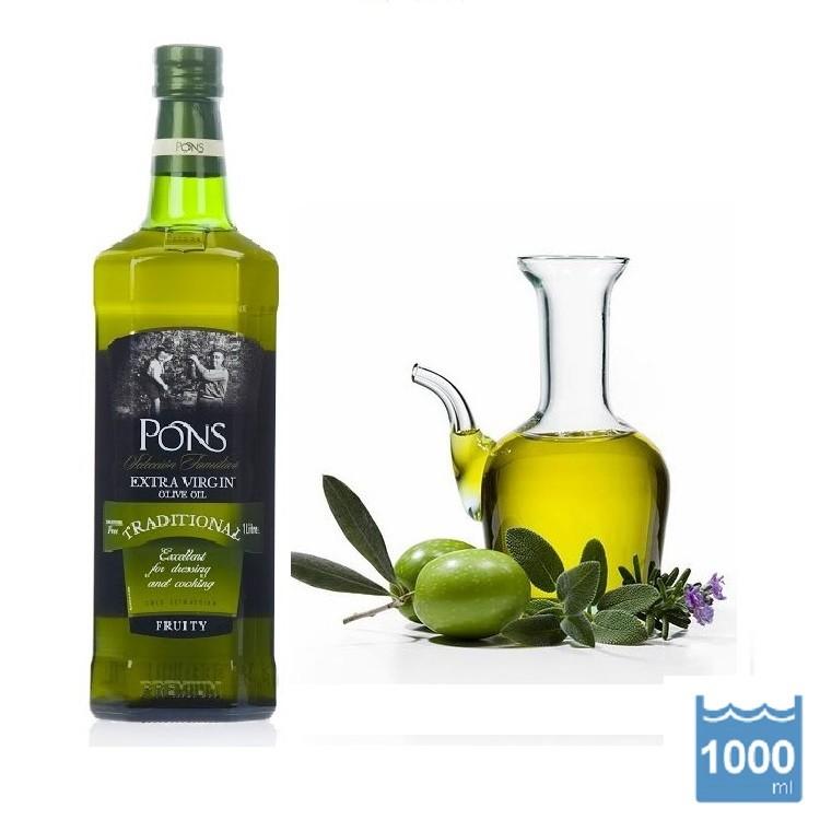 PONS 龐世 特級冷壓橄欖油 (1公升/瓶)
