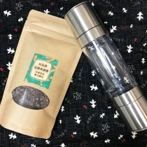 加油讚晶鑽黑礦鹽+不鏽鋼雙頭研磨罐組